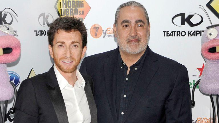 El presentador Pablo Motos (izquierda) y el productor Jorge Salvador.
