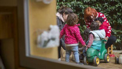 Interior de una escuela infantil de  Barcelona.
