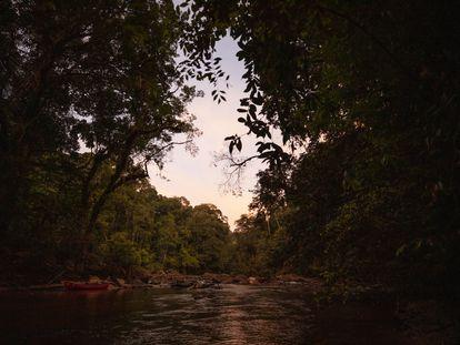 Una vista del río Rupununi, en Guyana.