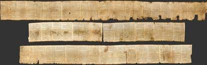 Vista de los 7,34 metros que tiene el Libro de Isaías, el rollo más completo de los manuscritos y el analizado en esta investigación.