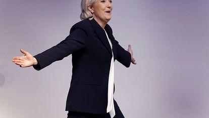 Marine le Pen, la candidata de la extrema derecha a las próximas elecciones francesas.