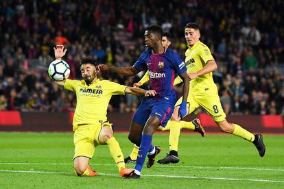 Dembélé hace el quinto gol para el Barcelona.