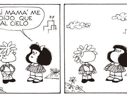Tira de Mafalda.
