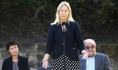La consejera de la Presidencia, Neus Munté, en el homenaje a Lluís Companys.