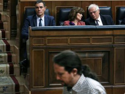 """Sánchez, sobre su investidura  """"Lo vamos a intentar hasta el último segundo"""". Iglesias solicita al presidente en funciones un cara a cara para desbloquear la situación, que este rechaza"""