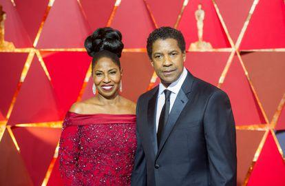 Denzel Washington y Pauletta Pearson.