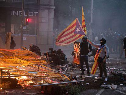Disturbios en Barcelona por la sentencia del procés, el 18 de octubre.