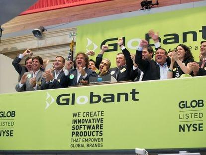 Estreno en Bolsa de la empresa Globant en Nueva York, en julio de 2014.