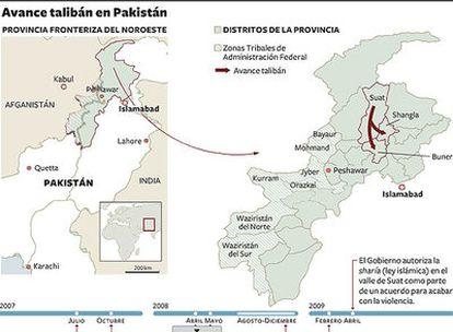 Los extremistas musulmanes ganan terreno en la provincia fronteriza del noroeste.