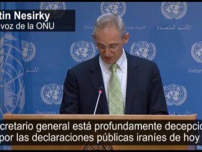 Martíb Nesirkym portavoz de la ONU.