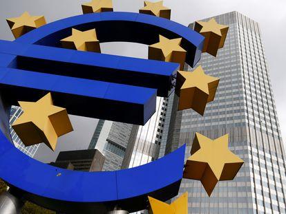 La fachada del Banco Central Europeo en Fráncfort, en una foto de archivo.
