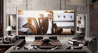 El televisor C SEED 262 está diseñado para interiores pese a su tamaño.