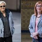 Combo formado por la feminista Ángeles Álvarez y la la primera mujer transexual catedrática de España, Marina Echebarría Sáenz.