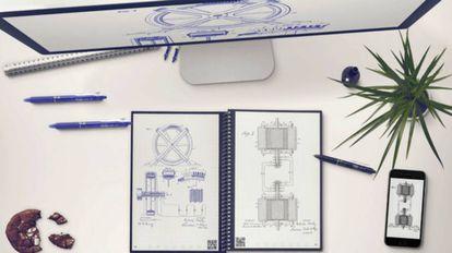 El Everlast Notebook, que permite subir la información a la nube escaneando la página con una aplicación móvil.