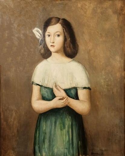 'Figura de nena', de Pere Pruna, 1923, que se puede ver en la exposición.