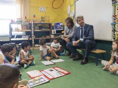 El presidente de la Comunidad, Ángel Garrido, durante el inicio del curso escolar.