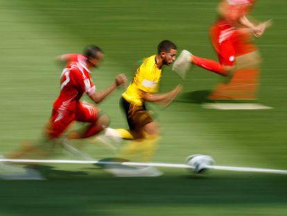 Hazard, en el partido contra Túnez.