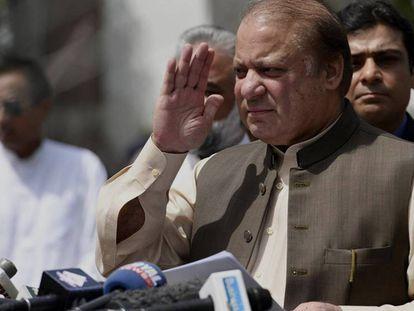 Sharif, en una rueda de prensa en Islamabad, el pasado 15 de junio. En vídeo, así delató la letra 'Calibri' al primer ministro paquistaní.