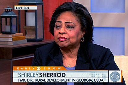Shirley Sherrod, durante una entrevista en la cadena de televisión CBS.