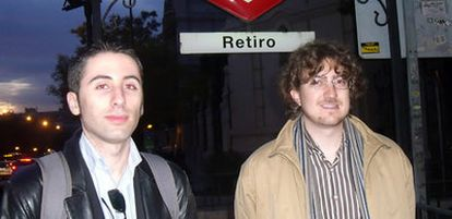 Carlos Ayala, a la izquierda, presidente del Partido Pirata, e Ignacio Blanco, responsable de Comunicación de la formación.
