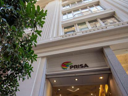 Sede del grupo PRISA en la Gran Vía, en Madrid.