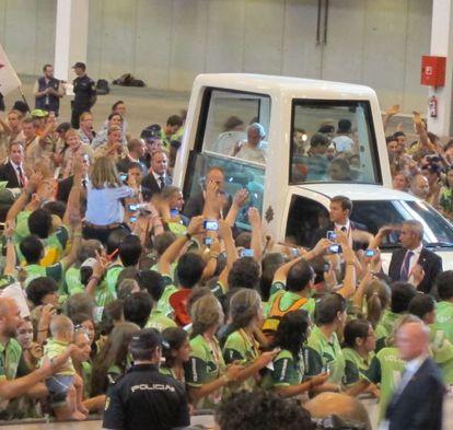 Encuentro del Papa con voluntarios JMJ