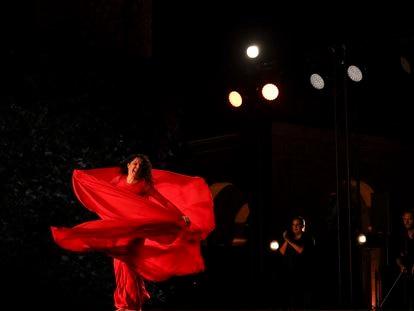 María Pagés en un espectáculo 'Entremos en el jardín' del Festival Peralada.