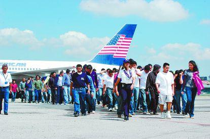 Llegada a Guatemala de aviones estadounidenses con deportados