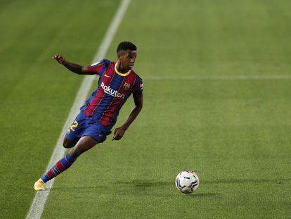 Ansu Fati, en octubre pasado en el Camp Nou contra el Sevilla.
