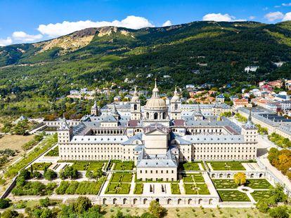 Real Monasterio de San Lorenzo de El Escorial, en Madrid, España.
