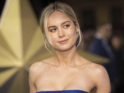 Brie Larson, en el estreno de 'Captain Marvel' en Londres. En vídeo, análisis de la película de Marvel protagonizada por Larson.