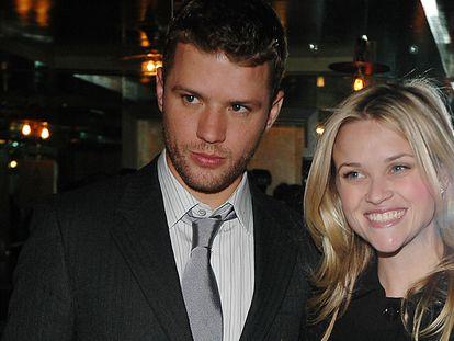 Ryan Phillippe y Reese Witherspoon en el estreno de 'Banderas de nuestros padres'. Fue lo más cerca que el actor estuvo de alcanzar el prestigio que tenía su por entonces esposa.
