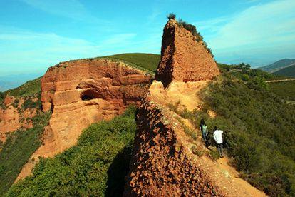 Zona de las antiguas minas romanas de oro de Las Médulas.