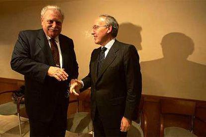 Ricard Fornesa, presidente de La Caixa, y Manuel Pizarro, presidente de Endesa.