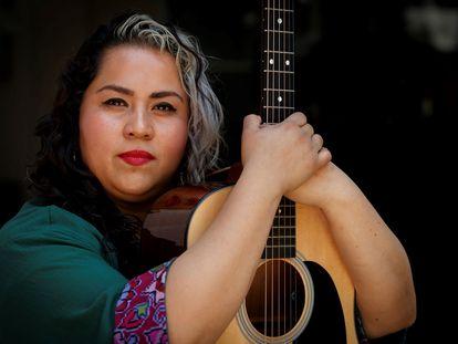 La cantante y compositora mexicana Vivir Quintana, el pasado 1 de marzo en Ciudad de México.