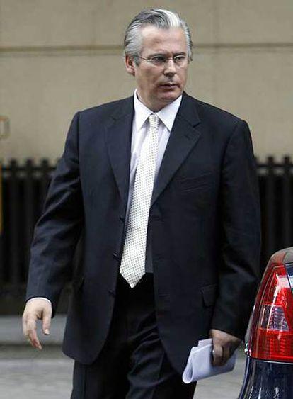 Baltasar Garzón, a la salida de la Audiencia Nacional.