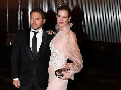 Manuel Martos y Amelia Bono en un evento en Madrid en octubre de 2018.