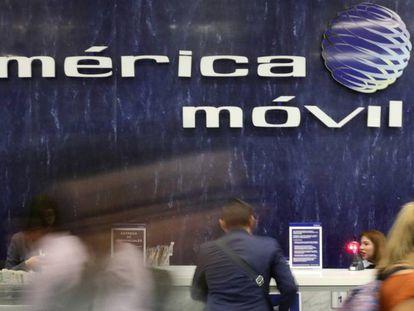 Imagen de la sede de América Móvil, en Ciudad de México.