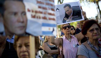 Protesta a favor de Alberto Nisman.