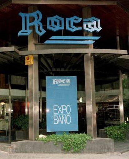 Fachada de una de las tiendas en Madrid de la empresa Roca.