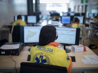 Profesionales del Centro de Atención Psicológica de la Generalitat de Cataluña el pasado mayo.