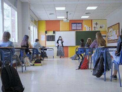 Alumnos de Bachillerato del Colegio Alameda de Osuna, Madrid.