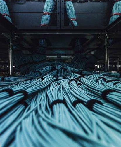 Una parte de los entre 60 y 80 kilómetros de cable que hace funcionar el Mare Nostrum.