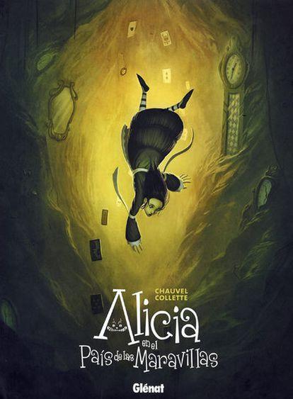 Ilustración de <i>Alicia en el País de las Maravillas</i> (Glénat), de Xavier Collette.