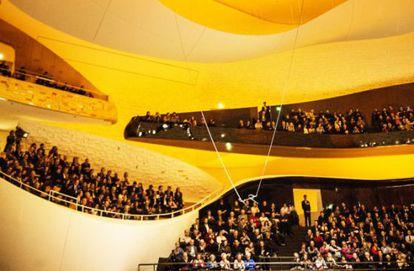 Gran sala de la Filarmónica de París.