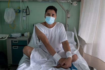 Federico Marcial, 29, admitted to the Vall d'Hebron Hospital after suffering severe covid.