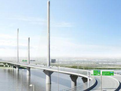 Proyecto de puente entre Runcorn y Widnes (Reino Unido), de cuya construcción se encarga FCC.