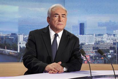 Dominique Strauss-Kahn, durante su entrevista en la television francesa TF1.