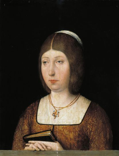Retrato de Isabel la Católica, de autor anónimo, que está en el Museo del Prado. El cuadro fue realizado en torno a 1490, época en que ya tenía a su servicio a Sancho Paredes de Guzmán.