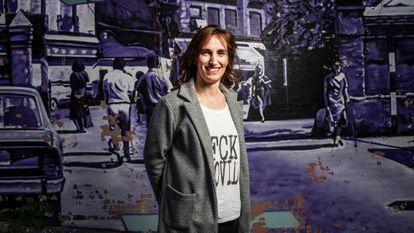 Mónica García, candidata a la Comunidad de Madrid por Más Madrid, el martes.